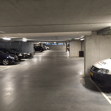 LED verlichting in parkeergarages
